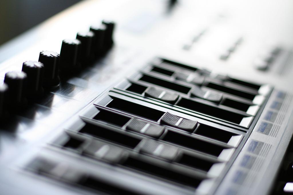 Mixerbord i studio