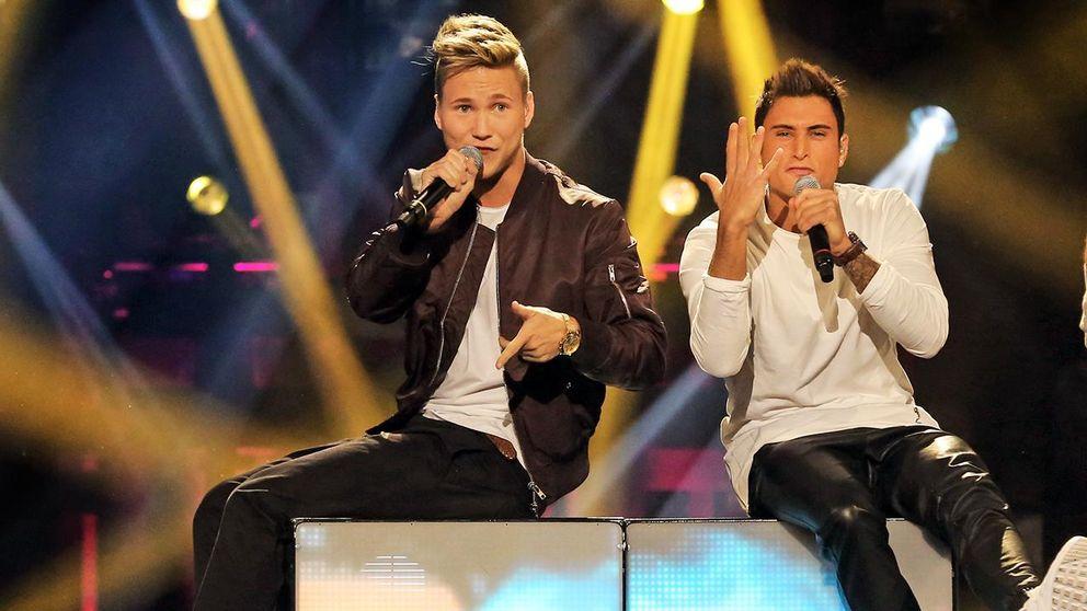 Samir & Viktor med Groupie. Foto: Janne Danielsson/SVT
